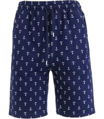 galaxy by harvic men's slim fit french terry printed shorts with contrasting anchor design