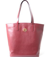 bolsa couro mariart shopping bag vermelho