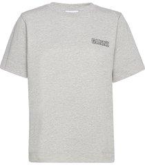 thin software jersey t-shirts & tops short-sleeved grå ganni