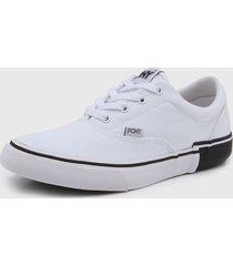 zapatilla blanca pony kingston ox descontuction canvas