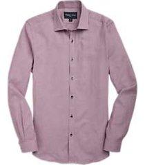 paisley & gray sport shirt red & navy dot