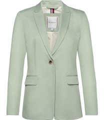 cotton pastel sb bla blazers business blazers groen tommy hilfiger