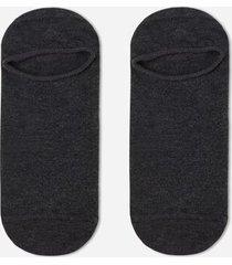 calzedonia unisex cotton no-show socks man grey size 42-43