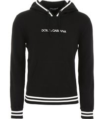 dolce & gabbana hoodie with logo embroidery