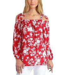 gigi parker women's 3/4 sleeve off-the-shoulder top