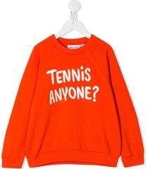 mini rodini graphic print sweatshirt - red