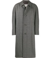 a.n.g.e.l.o. vintage cult 1990's tweed overcoat - neutrals