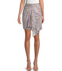 iro women's siowa draped-front mini skirt - pink zebra - size 36 (4)