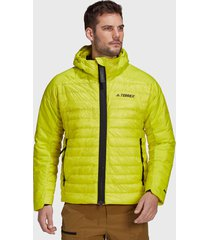 chaqueta adidas outdoor txms down hd j amarillo - calce regular