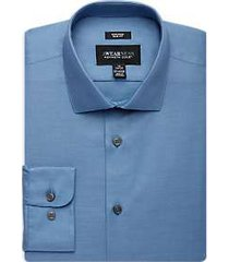 awearness kenneth cole blue slim fit dress shirt