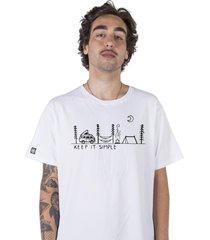 camiseta masculina keep it simple branco