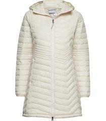 powder lite mid jacket gevoerde lange jas crème columbia
