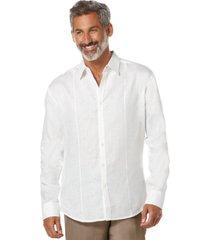 cubavera tucked long-sleeve 100% linen shirt