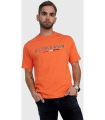 camiseta naranja-azul us polo assn