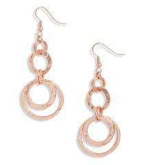 women's karine sultan hoop drop earrings