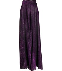 talbot runhof kifty wide-leg trousers - purple