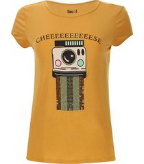 camiseta screen lentejuelas color amarillo, talla l
