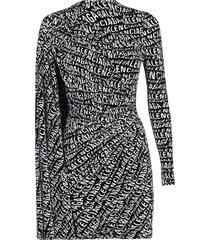 balenciaga logo wave dress