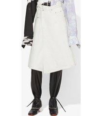proenza schouler denim asymmetric skirt off white 6