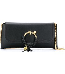see by chloé joan evening chain bag - black