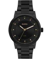 relógio euro bicolor trendy feminino preto eu2036ynq/4p eu2036ynq/4p