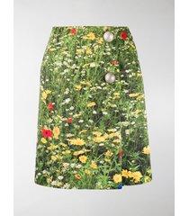 christopher kane london fields satin-finish wrap skirt