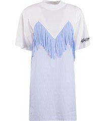 palm angels fringed t-shirt dress