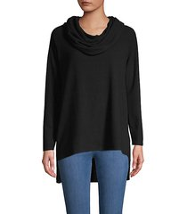 high-low raglan-sleeve sweater