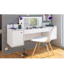 penteadeira albatroz camarim atração com espelho e cadeira charles branco