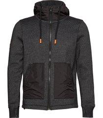 mountain bonded ziphood hoodie trui zwart superdry