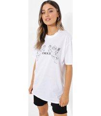 oversized amour t-shirt, white