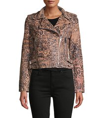 francis leopard-print leather moto jacket