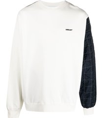 ambush mix quilted fleece sweatshirt - white