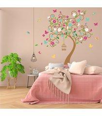 vinilo tingo tango flores de primavera-media pared 135x130cm