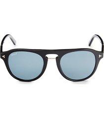 bally women's 52mm round sunglasses - black