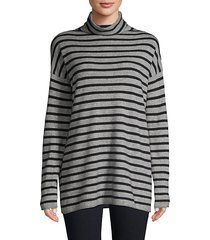 striped turtleneck tunic