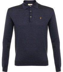 farah knitted yale polo shirt f4gf6057