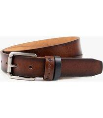 cinturón unifaz de cuero vintage