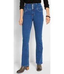 corrigerende stretch jeans met hoge band, bootcut