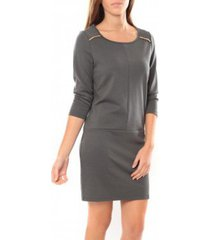 korte jurk vero moda greg 3/4 short dress 10098979 anthracite