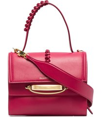 alexander mcqueen the story leather shoulder bag - pink