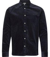 felix hw corduroy shirt overhemd casual blauw les deux