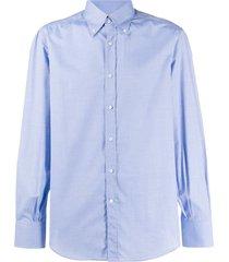 brunello cucinelli cotton formal shirt - blue