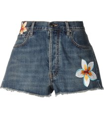 alanui denim shorts