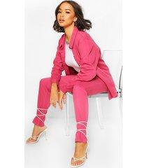 oversized denim shirt, pink