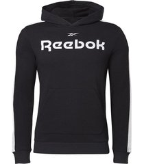 buzo training reebok essentials linear logo - negro-blanco