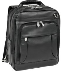 "mcklein lincoln park, 15"" three-way backpack laptop briefcase"