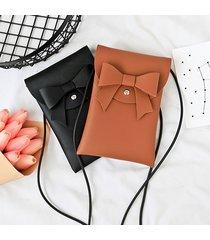 borse a tracolla della borsa del crossbody della borsa del telefono di cuoio dell'unità di elaborazione 5.5inch di bowknot alla moda per le donne