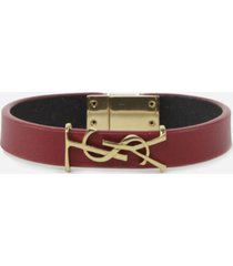 saint laurent opyum bracelet in smooth red leather