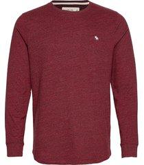 anf mens knits stickad tröja m. rund krage röd abercrombie & fitch